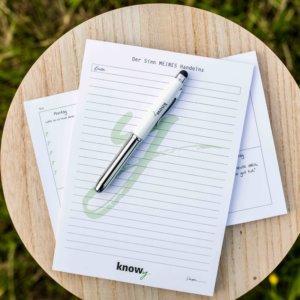 knowy-produkte-schreibset-pen und block
